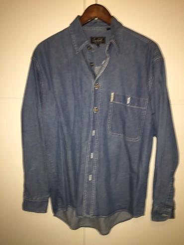 Ανδρικό ιταλικό jean λεπτό denim πουκάμισο με μπρούτζινα κουμπιά . Νο