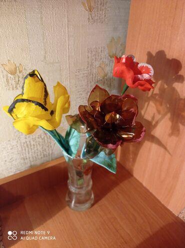 букеты ручной работы в Кыргызстан: Продаю цветы из пластика. Ручная работа. Цена одного цветка 100с