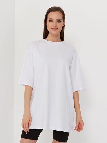 Базовые Oversize однотонные футболки, дышащие качество Хб