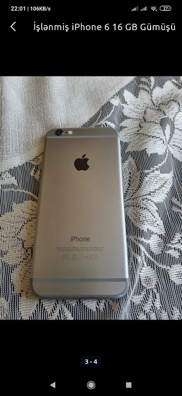 Yeni iPhone 6 16 GB Gümüşü