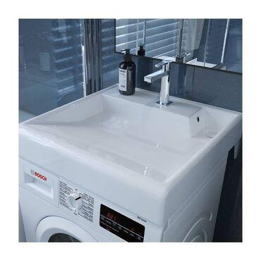 Раковина керамика !!На стиральную машину!!!Ценна 6800Размер 60х60наш