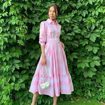 dresses в Кыргызстан: Оочень красивое нежное платье. Производство Турция, ткань хлопок