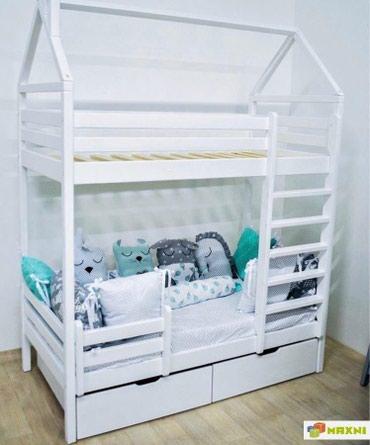 Детская кровать домик №04  материал из натурального дерева (из масси