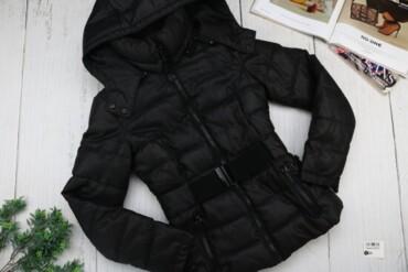 Товар: Куртка женская Bershka, черная, размер 28, 6565.      Состояние