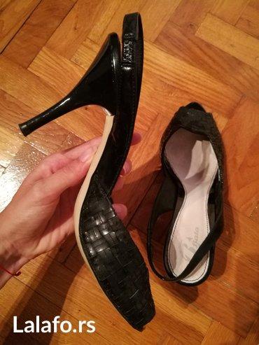 Bata, sandale, koža, štikla 7-8 cm, broj 39, dva puta nošene - Novi Banovci
