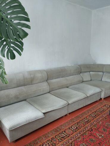 Диваны в Ак-Джол: Угловой диван.Общая длина 4 метраРаздвигается до состояниях 2-спальней