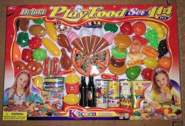Play station 2 - Srbija: Play food set 114 delova 1500din