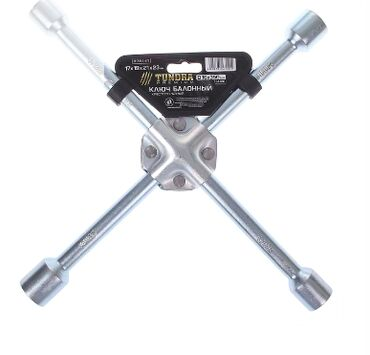 Ключ баллонный крестообразный усиленный TUNDRA, 16 х 350 мм, сатин