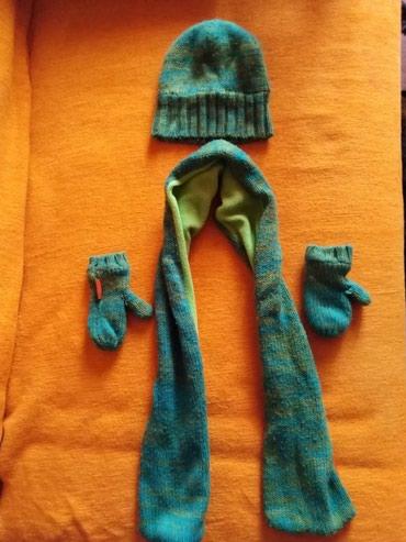 Komplet zeleni - kapa, šal, rukavice - Vranje
