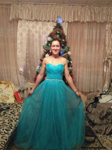 летнее платье из шелка в Кыргызстан: Продается платье выпускное/вечернее. Новое. Размер 36-38. Одевалось 1