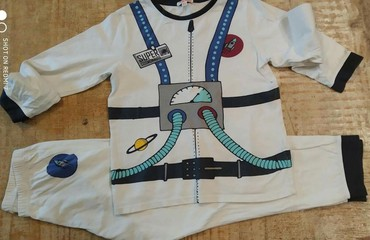 Dpam πιτζαμες αστροναυτη βαμβακερες για παιδακι 6-6μιση ετων αριστη