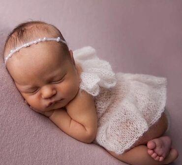 Набор нарядов для фотосессии новорождённых, новые, качество нам вязали