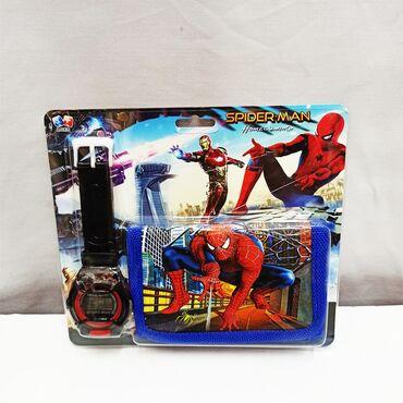 Часы детские с Человеком Пауком и кошельком в комплекте!!Размер 17 на