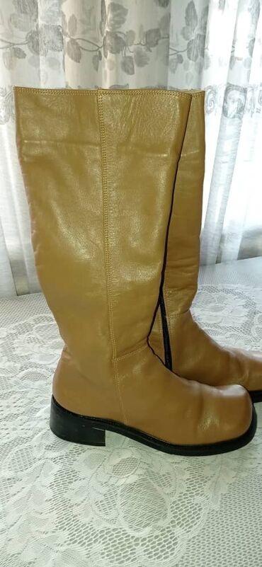 Демисезонные женские сапоги, кожаные, привезли с Америки, 40 размер