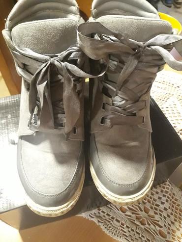 Cipela patike na platformu sive boje br.38 al odgovara 39 broju bez - Pancevo