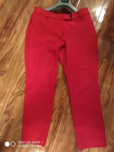 женские брюки дудочки в Азербайджан: Стильные женские брюки Lands'End размер 44-46,стрейч плотный трикотаж