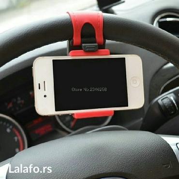 Univerzalni drzac telefona na volanu vozila. Obziran i praktičan,  - Kragujevac - slika 2