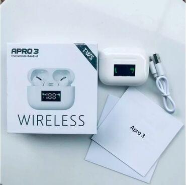 зарядка meizu в Кыргызстан: 😎Беспроводной наушник AРRO 3 TWS. Чистый мощный звук 😍 Bluetooth 5.O