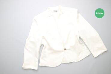 Женская одежда - Украина: Жіночий стильний однотонний жакет Dorota, p. S    Довжина: 56 см Ширин
