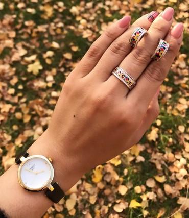 спортивные часы в Кыргызстан: Комплект из чистого серебра с натуральными камнями из Индии.Часы