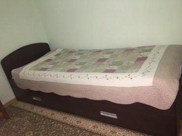 Продаю кровать+матрас Лина. Длина: 2 м. 7 см. , ширина - 85 см. Цвет: в Бишкек