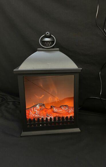 Декоративный светильник в виде камина. Характеристики: Анимация пламя