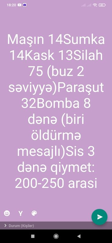 mobile - Azərbaycan: Pubg Mobile Hesabi Satilir Elaq
