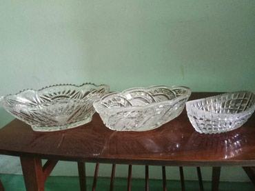 Хрустальные вазы лодочки в Бишкек