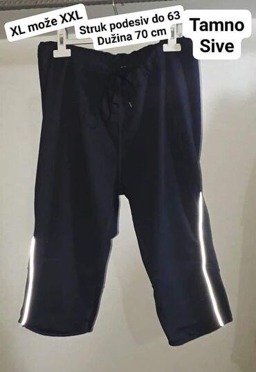 Sportske bermude XL može XXL tamno sive  U struku podesive