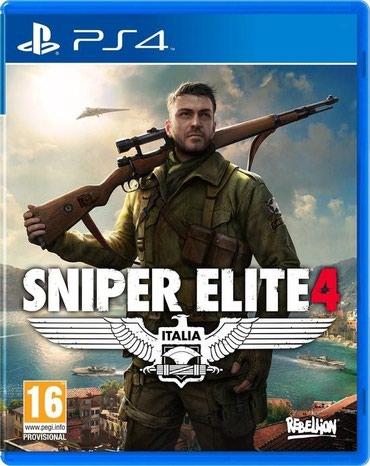 Bakı şəhərində Ps4 üçün Sniper Elite 4 oyun diski satılır Yenidir bağlı upokovkada
