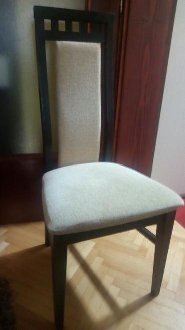 Nameštaj - Valjevo: Drvene stolice, mebl ocuvan, proizvodjac Konjuh 6 komada na prodaju