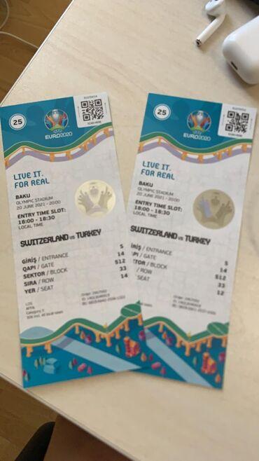 İsveçrə - Türkiyə oyununa 2 bilet - 100 AZN