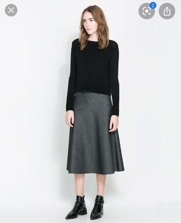 Продаю абсолютно новую !!! Юбку Zara Италия. Юбка из красивого неопрен