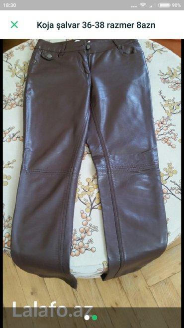женские брюки с высокой посадкой в Азербайджан: Кожанные брюки. размер 36-38