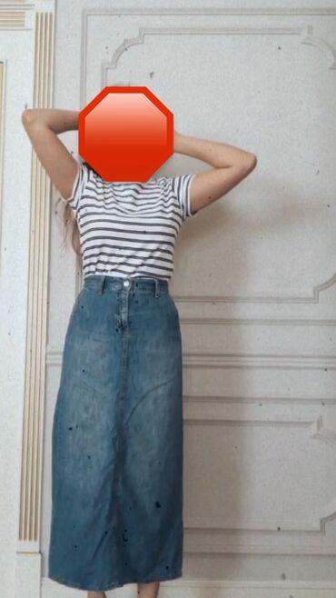 Весь образ в наличии) футболка манго, размер: М, цена:300, джинсовая