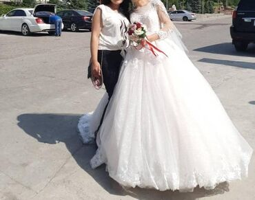 свадебные платья хиджаб в Кыргызстан: Продается очень красивое пышное свадебное платье! Размер 42-46