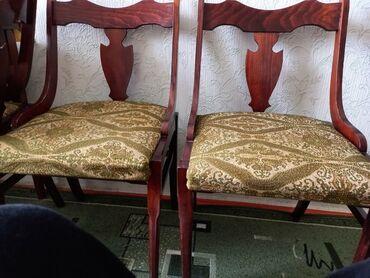 Стулья советских времен Румыния с мягкими сьемными сиденьями 5 штук