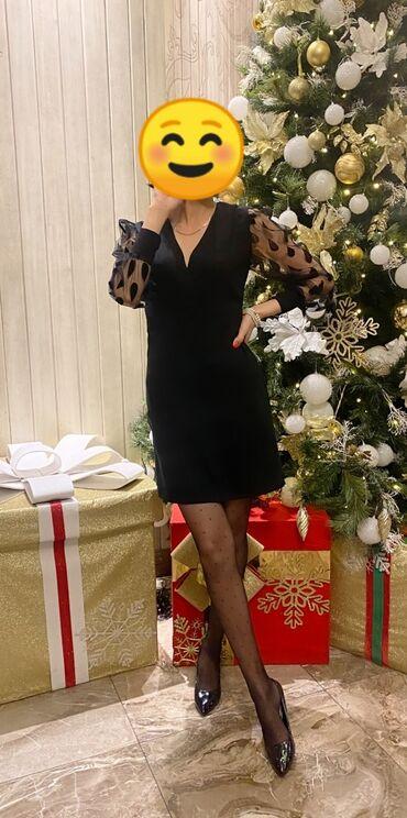 Продаю стильное, чёрное платье Размер 44-46. Можно напрокат