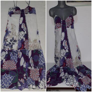 Letnja duga haljina na bretele vel L Pamučna s laganom postavom u