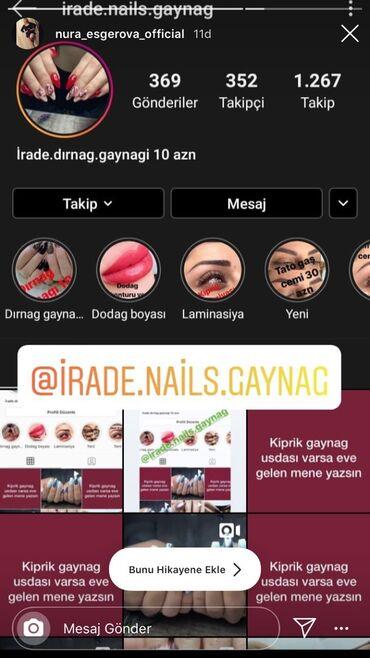 tato - Azərbaycan: Dırnag gaynagı 10 azn kiprik laminasiyası 10 azn saç gaynagı skopla 30