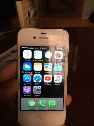 зарядка iphone 4s в Азербайджан: Б/У iPhone 4S 64 ГБ Белый