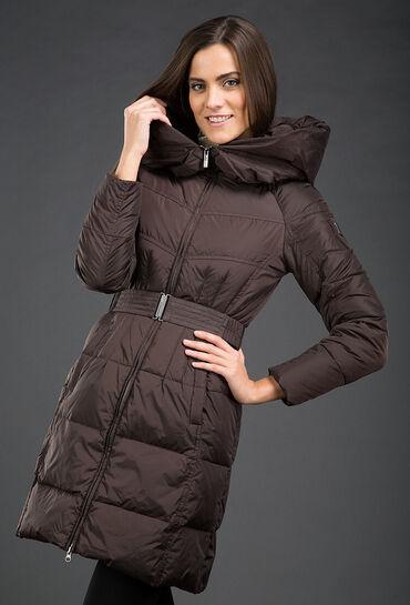 женские платья дешево в Кыргызстан: Пуховик женский Эффектное пуховое пальто длиной выше колена прямого