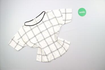 Жіноча блуза у широку клітинку, р. L/XL    Довжина: 54 см Ширина плече
