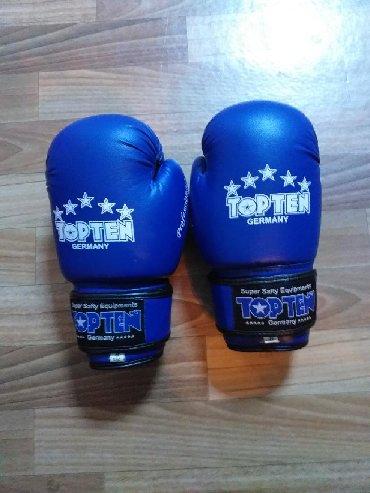 Спорт и хобби - Бишкек: Продаю боксерские перчатки Topten размер 8 в хорошем состоянии