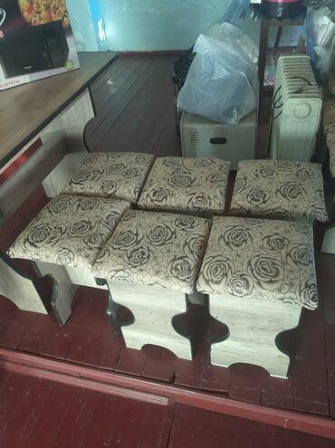 Мебель - Кызыл-Кия: Стол 1 штук стулдар 6 штук