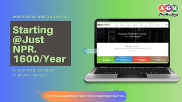 Standard Wordpress Hosting starts at just NPR 1600/year in Nepal. Ge