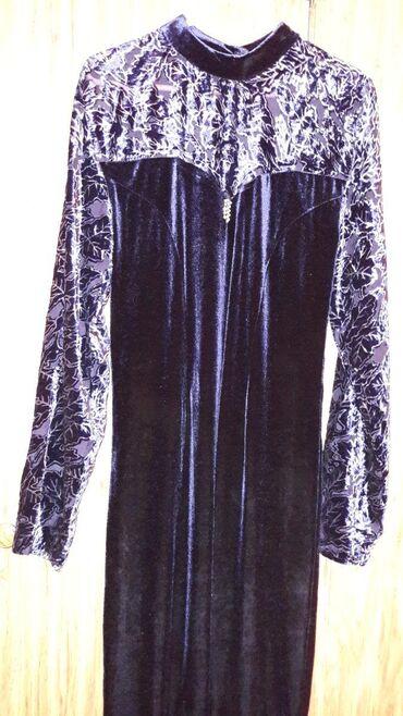 платье из королевского бархата в Кыргызстан: Продаю женское платье из королевского бархата.Пыль не прилипает.Цвет