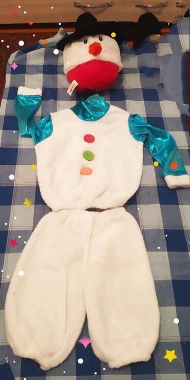 Новогодний костюм снеговика на 4-5 лет