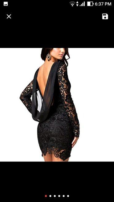 Cipkana-crna - Srbija: Crna cipkana haljina, nova, nije nosena, vel. L, realno moze biti i m