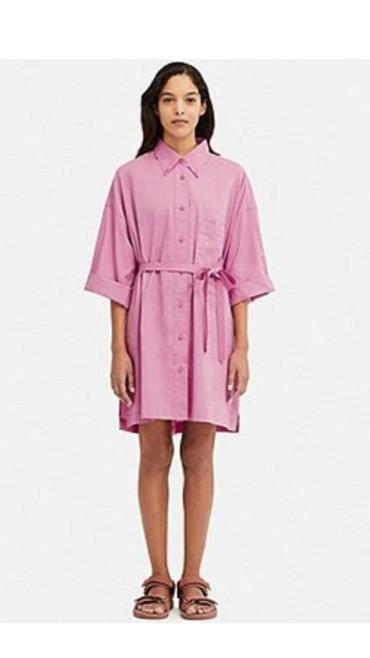 Платье-рубашка Юникло, с официального сайта, размер 48-50, цена 1500с в Бишкек